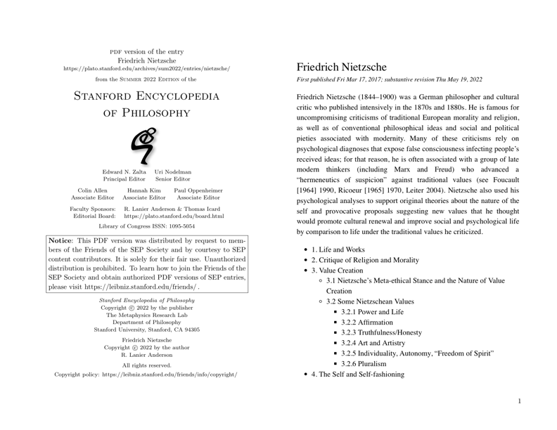 friends of the sep society preview of friedrich nietzsche pdf preview one page